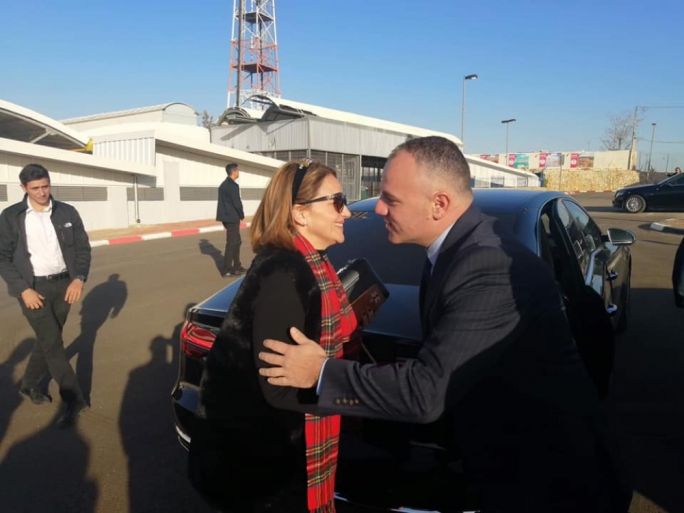 Michelle Muscat accompanied the prime minister