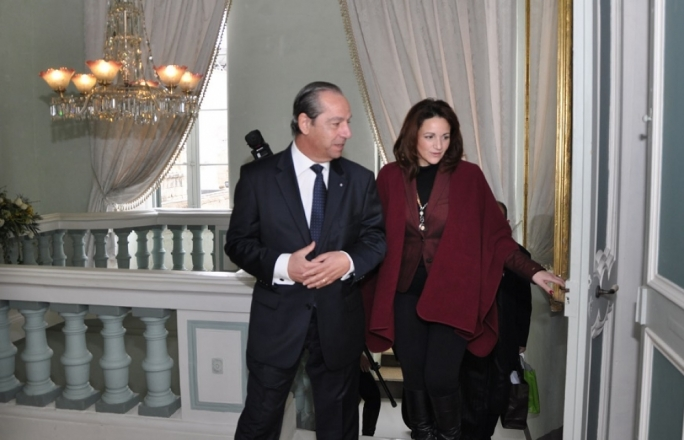 Michelle Muscat hosts Lawrence Gonzi at Villa Francia