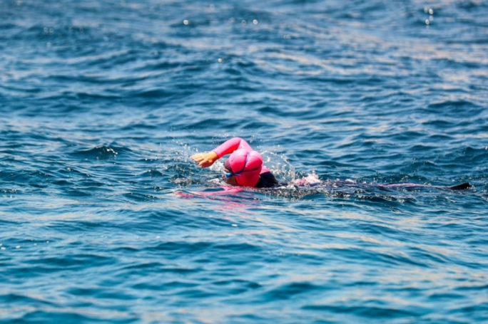 This was the fifth swimming challenge for Michelle Muscat