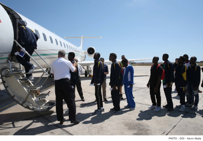 The migrants were brought to Malta in separate operations in July and August