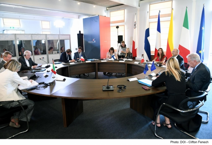 A migration meeting between five EU countries was hosted in Malta on Monday