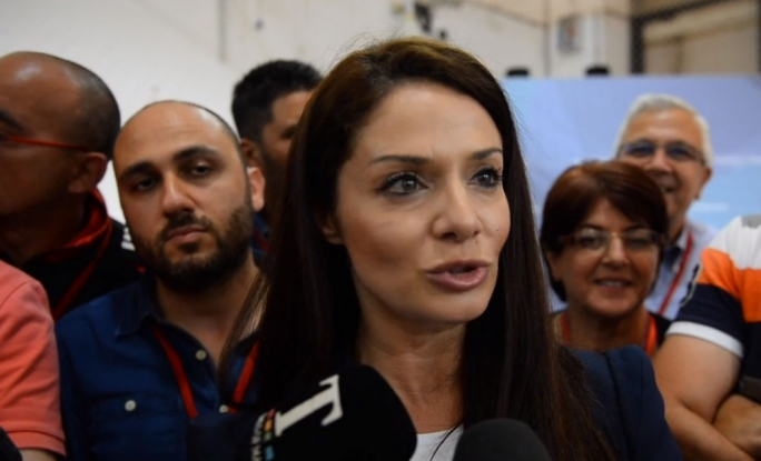 Miriam Dalli was reacting to the Labour Party's historic win at the Naxxar counting hall on Sunday evening