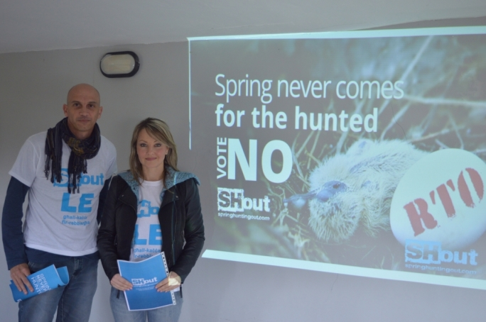 Moira Delia and Mark Sultana present a SHout report on the devastating effect of spring hunting. Photo: Holly Forsyth