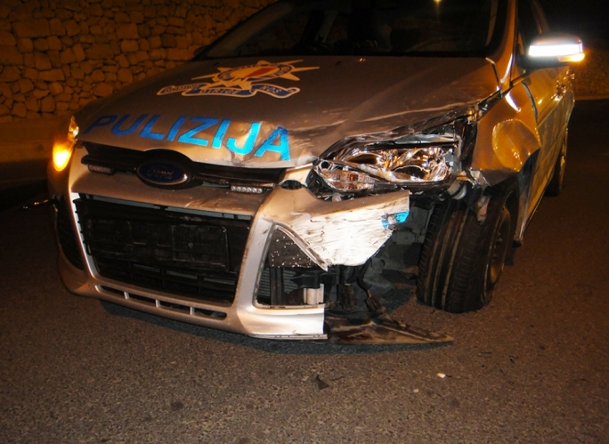 Eight-year-old hospitalised after police car accident