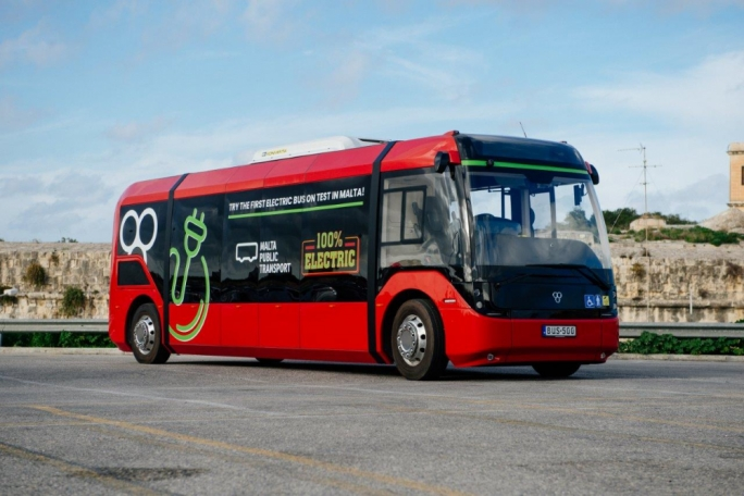 Malta Public Transport rolls out first fully-electric bus