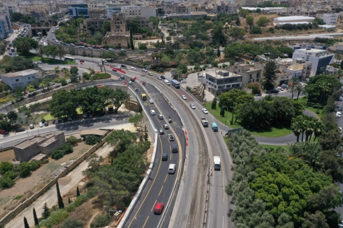 Two new lanes open on wider Msida Valley Road bridge