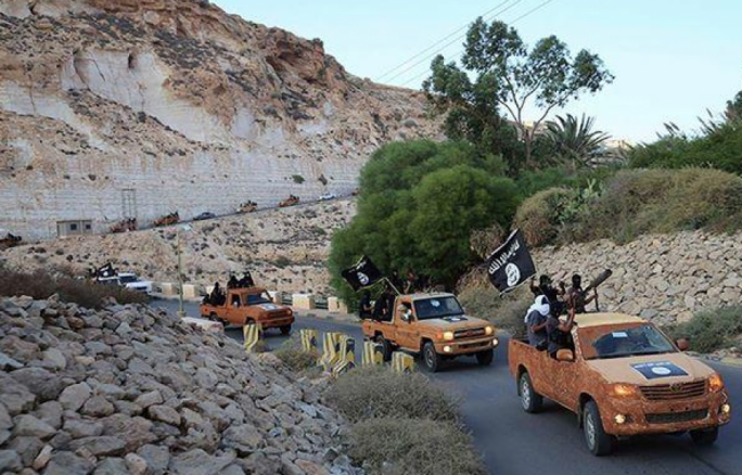 3 October: MSSI supporters celebrate the 'annexation' of Derna to the ISIS 'caliphate'