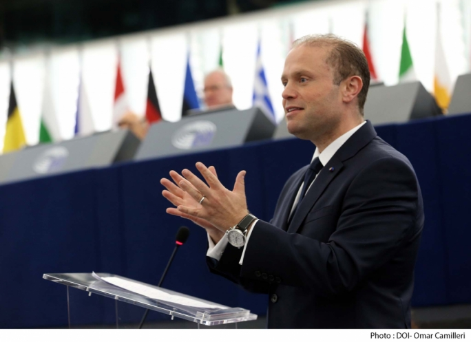Joseph Muscat was grilled by MEPs on the rule of law in Malta