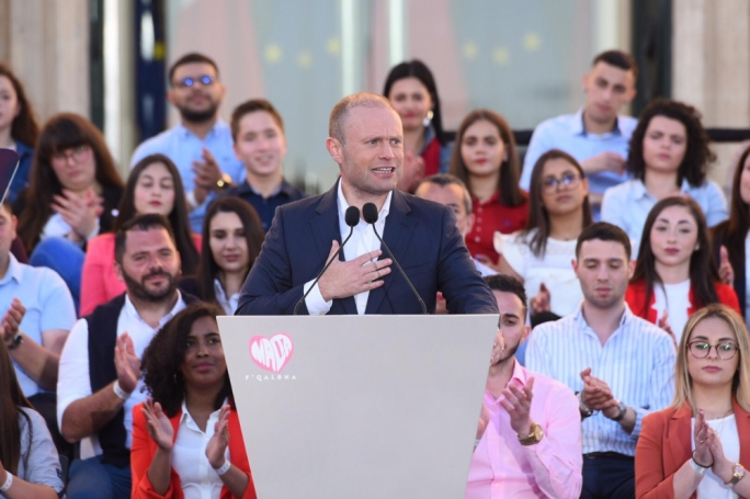 Muscat said the PN couldn't brag about leading Malta to EU membership while also stoking a xenophobia and a fear of foreigners. (Photo: James Bianchi/MediaToday)