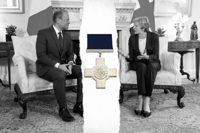 Tory MP wants Theresa May to revoke Malta's George Cross over Brexit offence