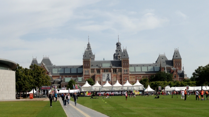 The open square in Museumplein is a hub of activity in summer and winter