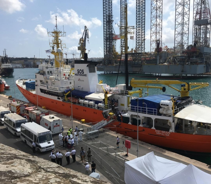 The MV Aquarius was allowed to disembark rescued migrants in Malta last month
