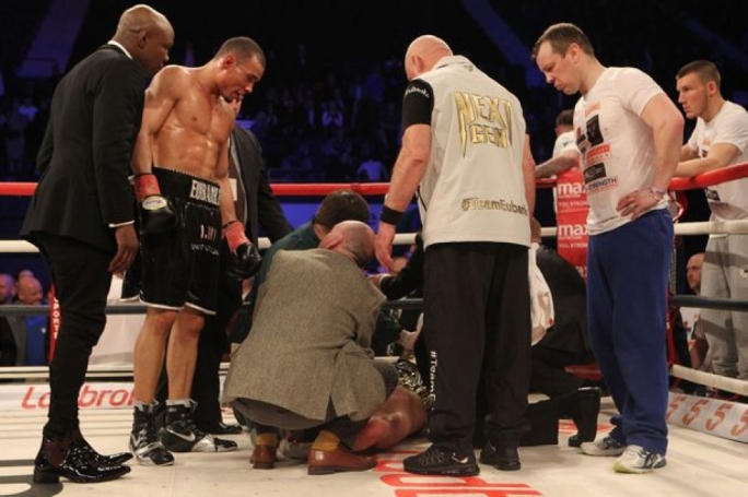 Nick Blackwell collapsed after the fight, which left the fighter in an induced coma