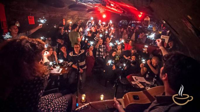 Tunel is an underground jazz bar where trains still run over the roof of the building