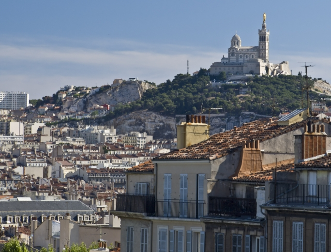 Notre Dame de la Garde: Perched on top of the hill, Notre Dame de la Garde overlooks the entire city of Marseille