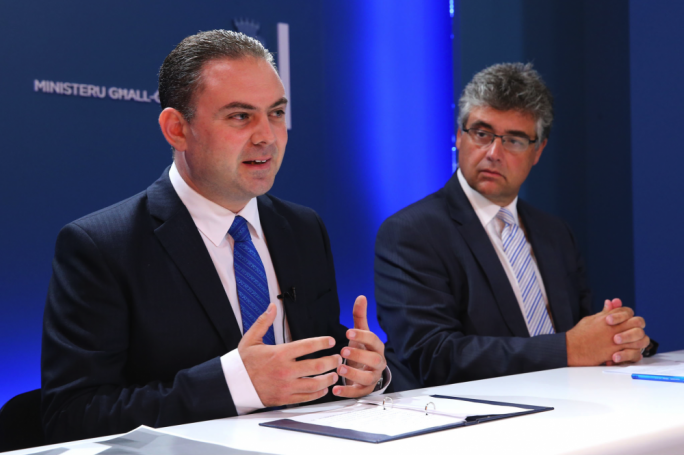 Dr Bonnici and Dr Attard Montalto at this morning's press conference (Photo by Reuben Piscopo, DOI)