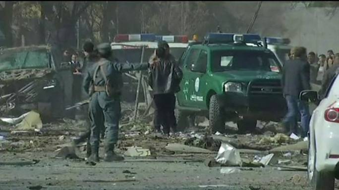 Witnesses said that the area, which was only open to government workers, was completely destroyed by the blast
