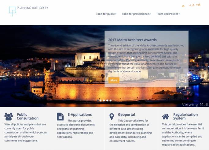 The Planning Authority launched a revamped version of its website today