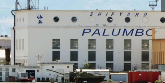 The Palumbo shipyard in Messina which was accused of dumping waste illegally