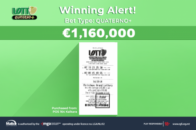 Lotto winner takes home €1.1 million for Christmas