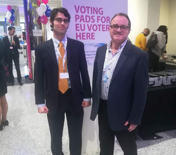 PD Deputy Leader Timothy Alden (left) and PD MEP candidate Anthony Buttigieg