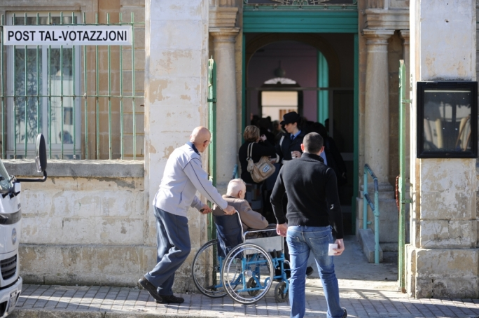 Disabled voters cannot be be accompanied inside the polling booth by carers and relatives