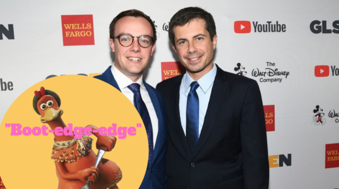Buttigieg, with its -tigieg portion of the last name meaning 'poultry', is one of various Maltese surnames of Semitic origin. Pictured are Chasten and Pete Buttigieg.