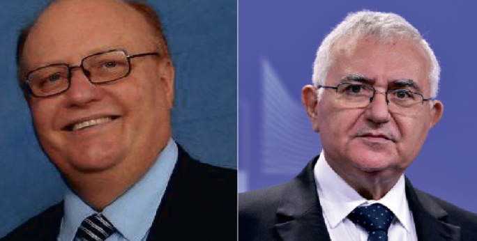 Attorney General Peter Grech (left) and John Dalli