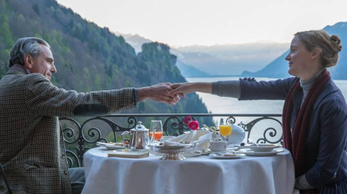 Love and breaking fast: Just one of the many breakfasts had by Woodcock (Daniel Day-Lewis) and Alma (Vicky Krieps) in Phantom Thread, a film that's ultimately about the most important meal of the day