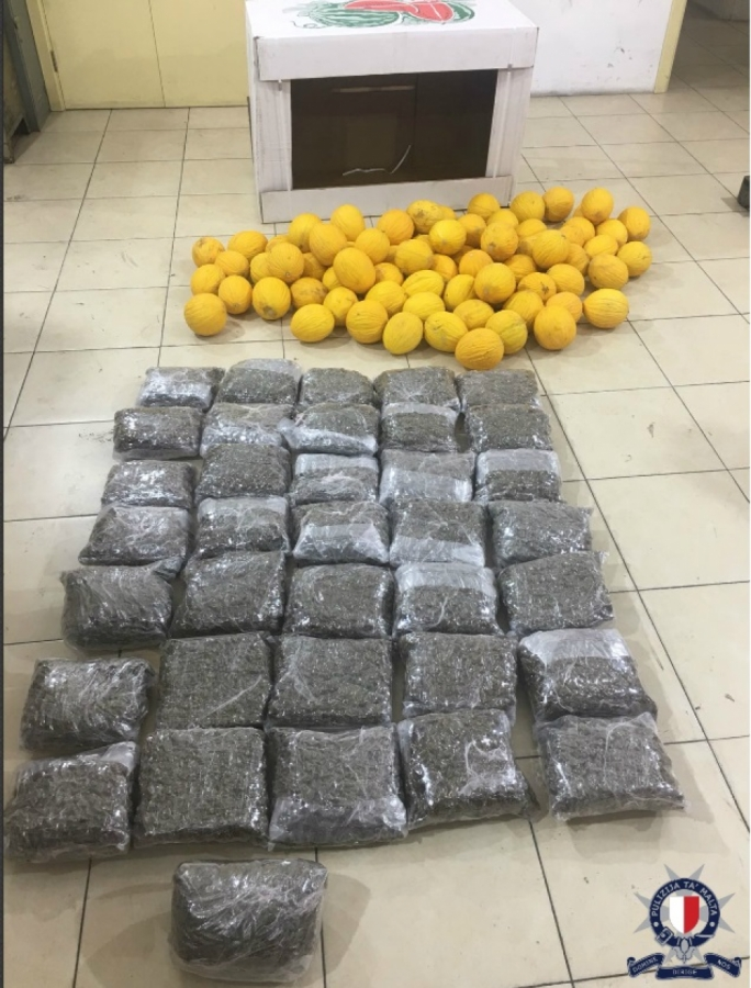 Over 200kg of cannabis found inside watermelon crates, three arrested