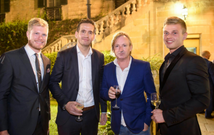 Pierre Lindh, Director at Ambassador Events, Michael Pedersen, CEO I Gaming IDOL, Patrick J O Brien, I Gaming Ambassador and Jens Grodahl at the Press Launch of IGaming IDOL 2017