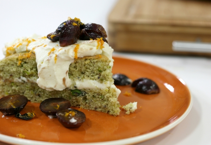[WATCH] Olive oil and pistachio cake