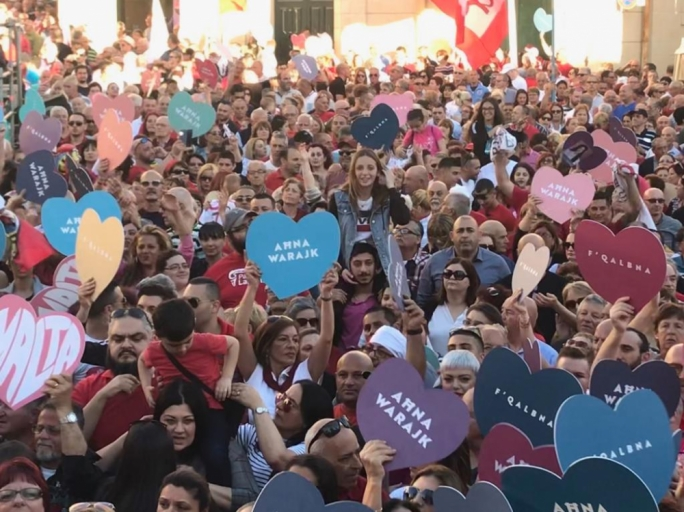 The rally in Birgu closed a four-week campaign