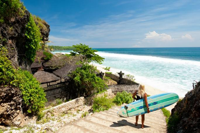Canggu is popular among surfers but also among hipster travellers looking for a healthy breakfast