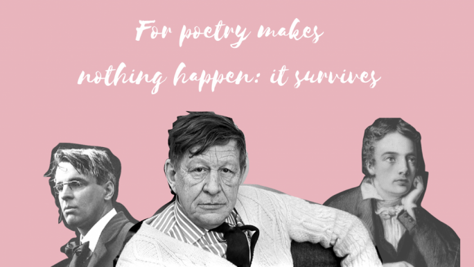 W.H. Auden, centre... 'Keats and Yeats by your side'