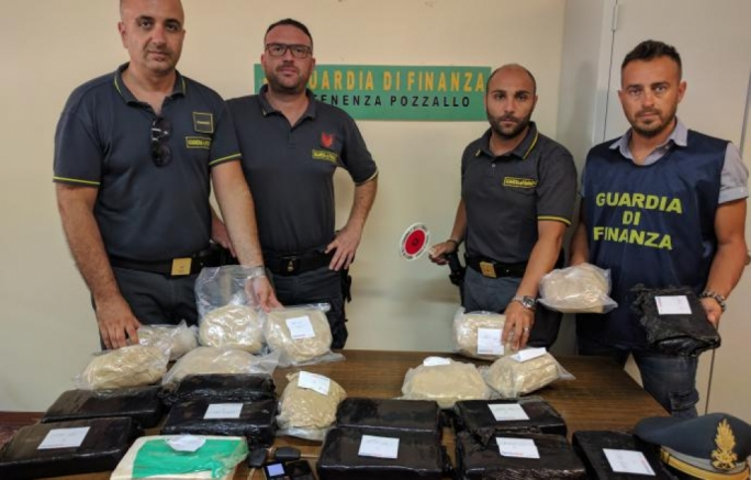 The Guardia di Finanza said the drugs recovered had a street value of €5 million