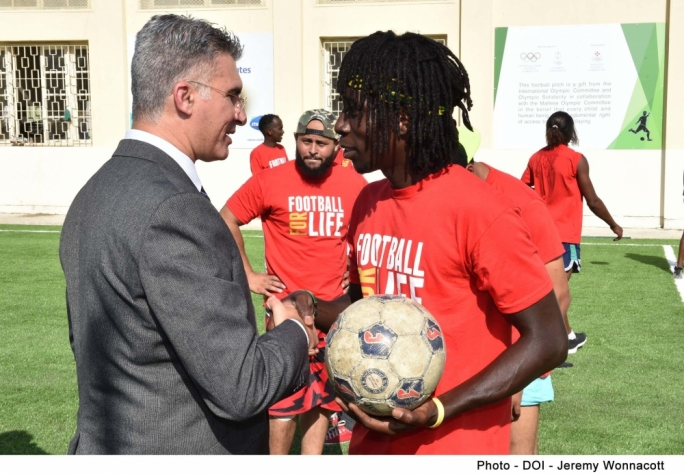 Football pitch inaugurated at Marsa Open Centre