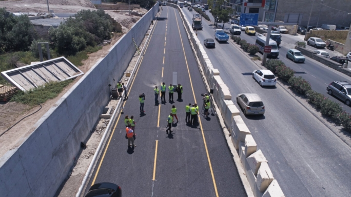 The first phase of the Marsa-Hamrun Bypass project is almost complete, Transport Minister Ian Borg said