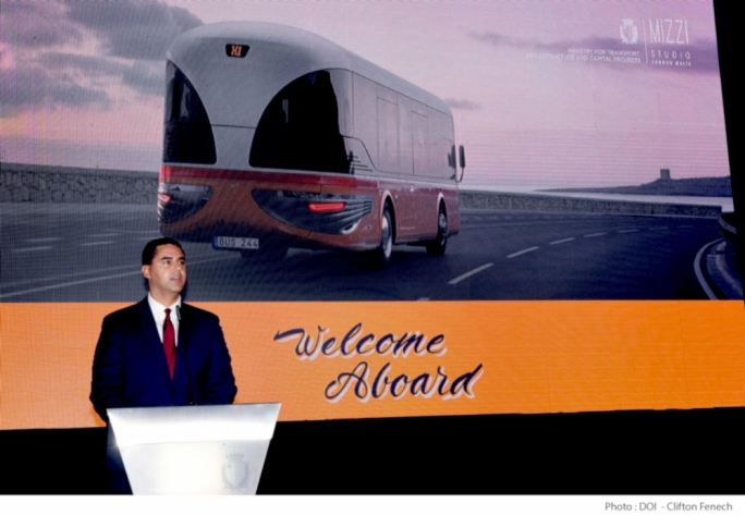 The Malta Bus Reborn concept was launched by Ian Borg on Friday