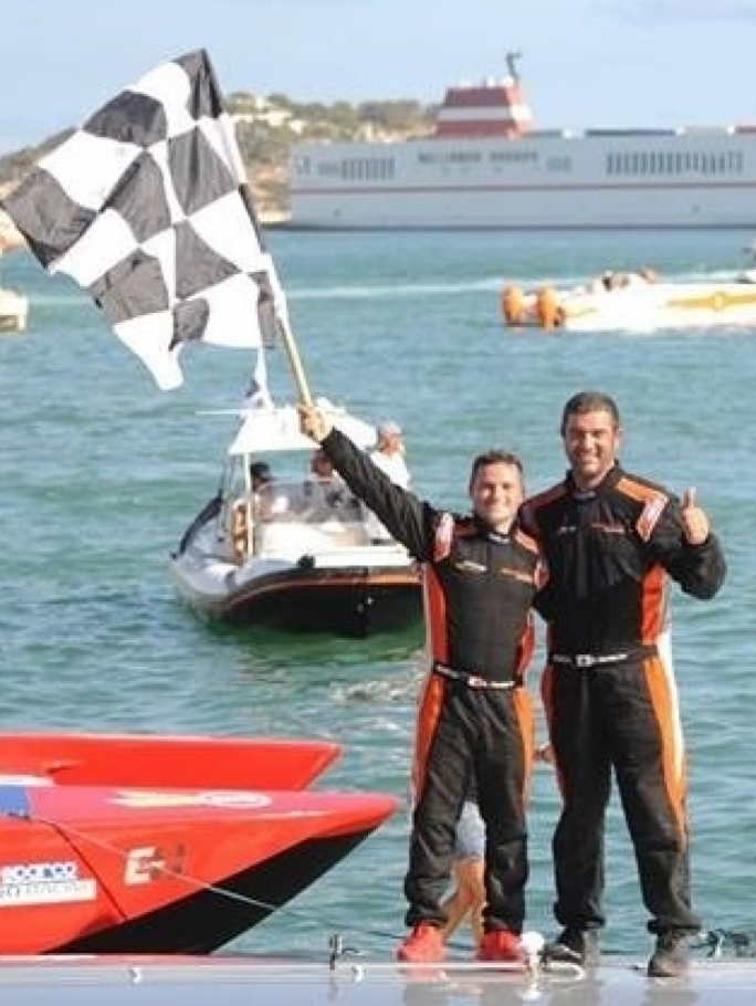 Ibiza gave Team Chaudron 'The Mediterranean Grand Prix' - a proud moment to celebrate for Maltese driver Aaron Ciantar and French  throttle-man Dominique Martini.