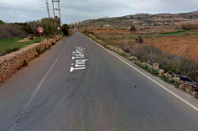 The accident happened in Triq tal-Prajjet, which leads to Popeye village (Photo: Google Maps)