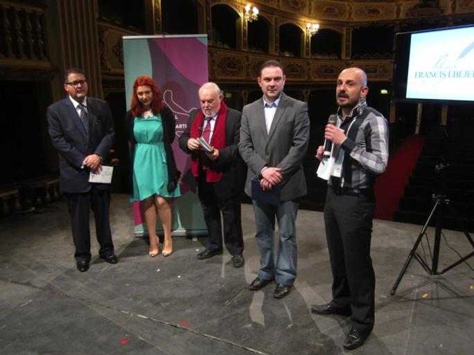 From left: Manoel Theatre Artistic Director Kenneth Zammit Tabona, playwright Leanne Ellul, Arts Council Malta chair Albert Marshall, Culture Minister Owen Bonnici and Arts Council director of strategy Toni Attard