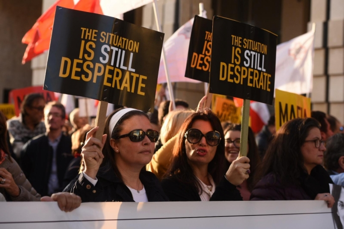 Thousands are protesting in Valletta, calling for Joseph Muscat to resign