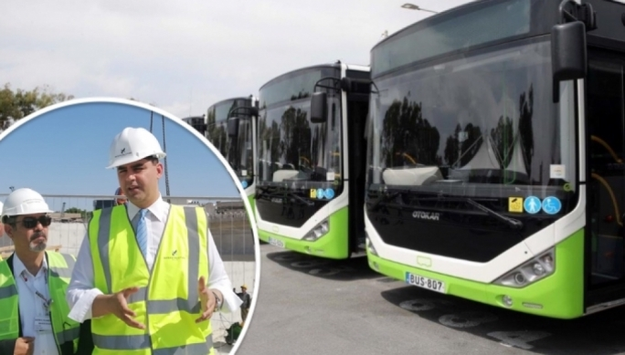 Ian Borg says public transport bus fleet will have to increase, as he visits the Marsa junction works