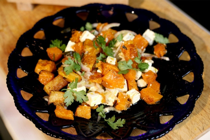 [WATCH] Roasted pumpkin with feta and coriander