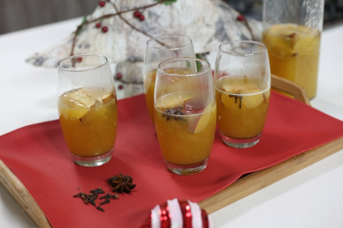 Roasted apple cider punch