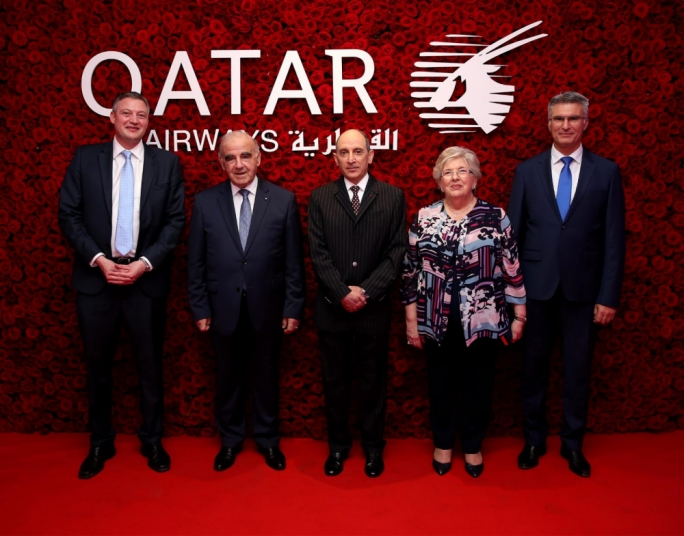 President George Vella was a guest of honour at the Qatar Airways celebration