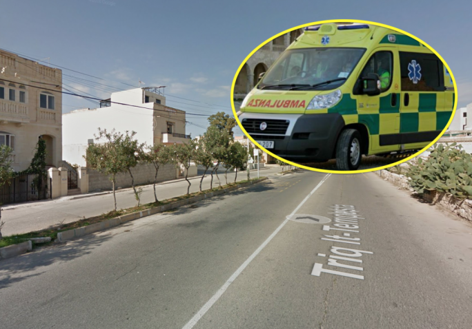 A young man was injured when he crashed in Triq it-Tempesta in Qrendi