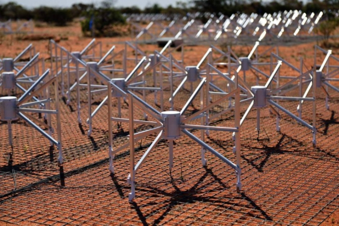A precursor of SKA, the MWA telescope is located on the Murchison Radio astronomy Observatory in Western Australia. (Photo: Curtin University)
