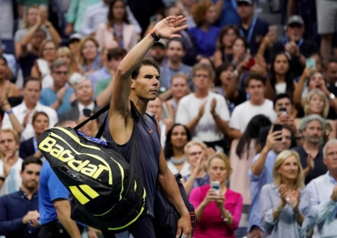 Nadal retires to send Del Potro into U.S. Open final